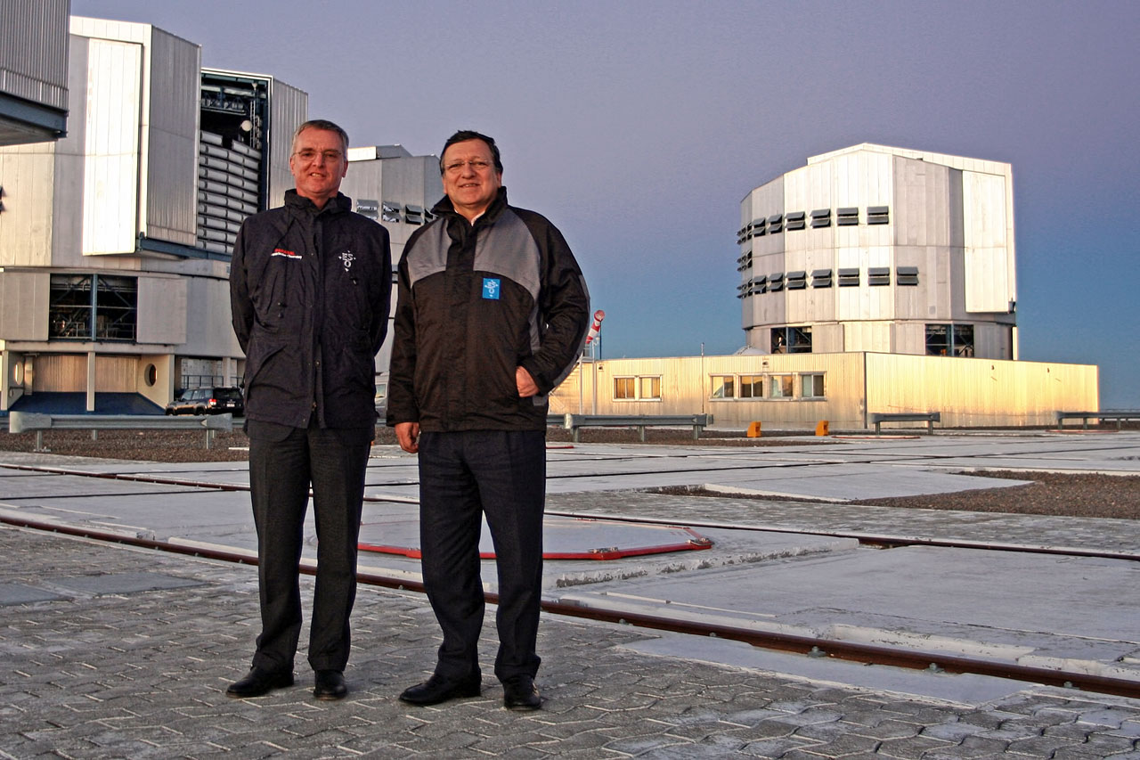 The President of the European Commission, José Manuel Barroso, during a visit to ESO's Paranal Observatory
