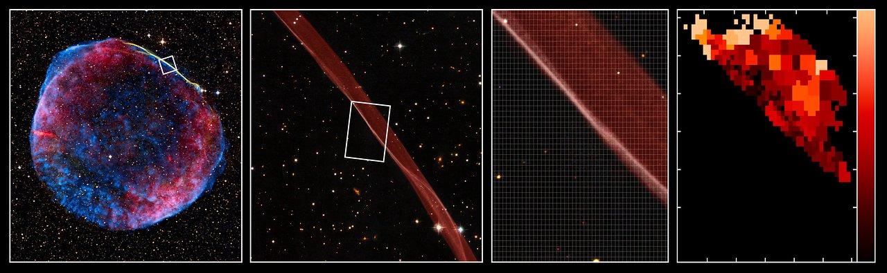 Observations VLT/VIMOS de l'onde de choc dans les restes de la supernova SN1006