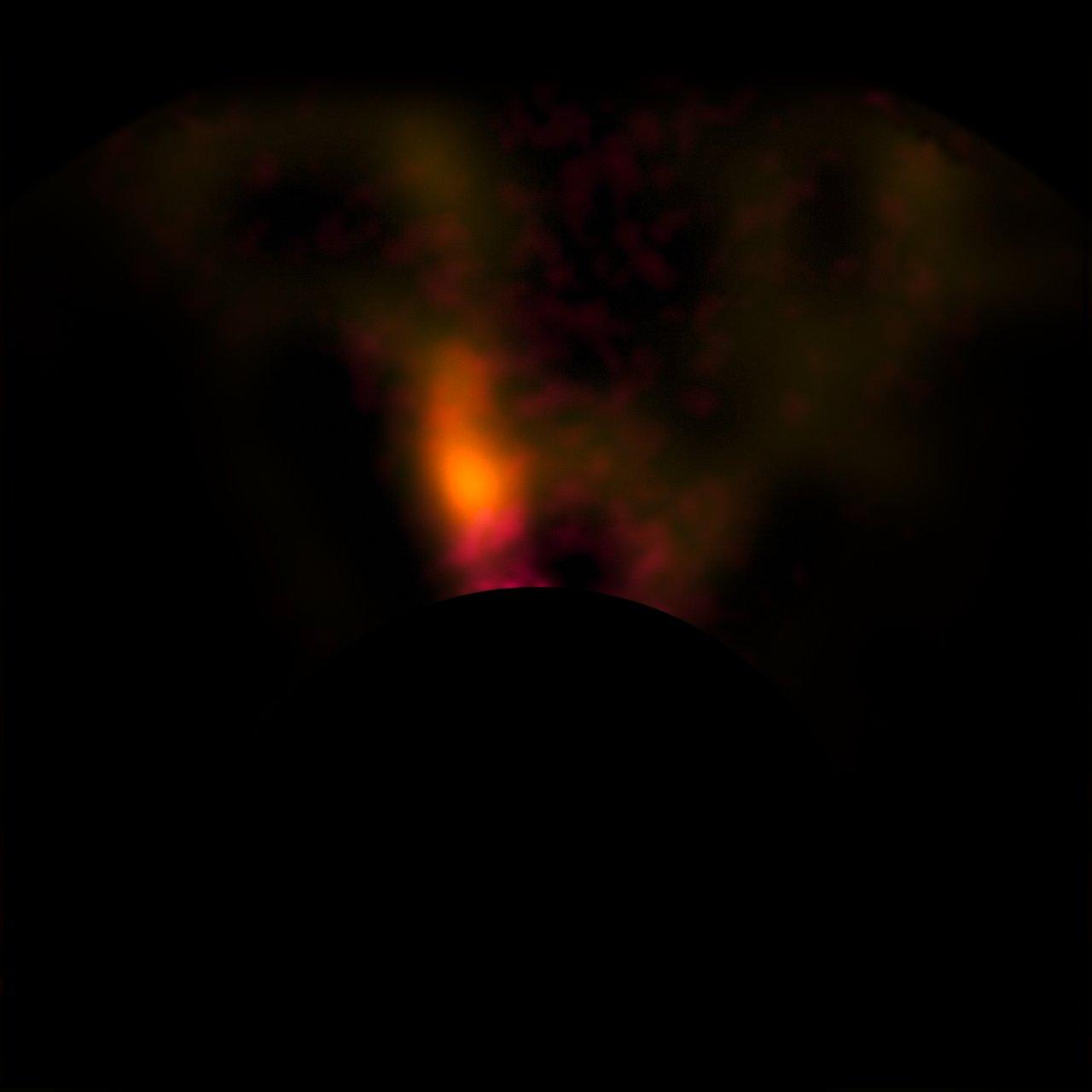 VLT-Aufnahme des Protoplaneten im HD 100546-System