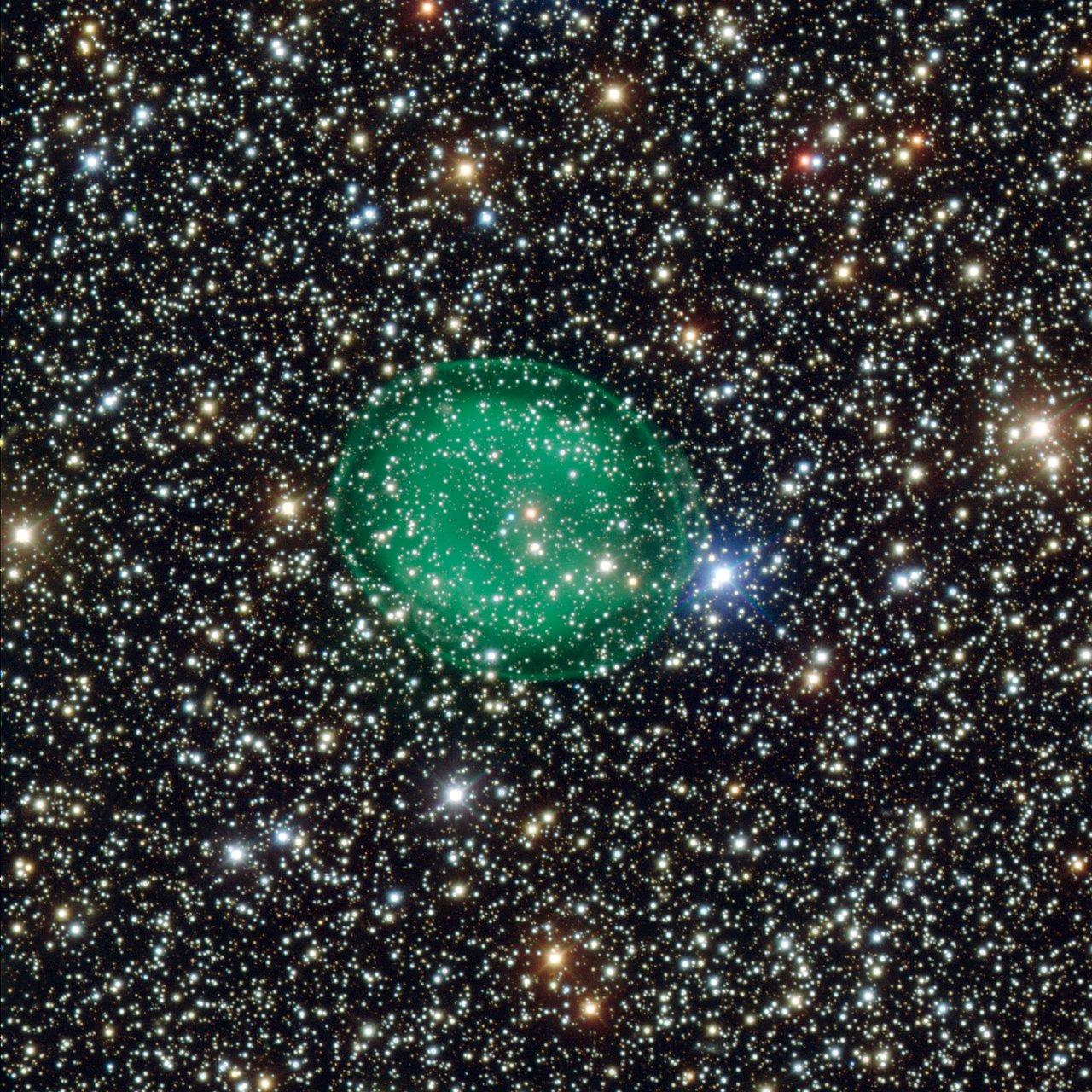 Imagem da nebulosa planetária IC 1295 obtida pelo VLT