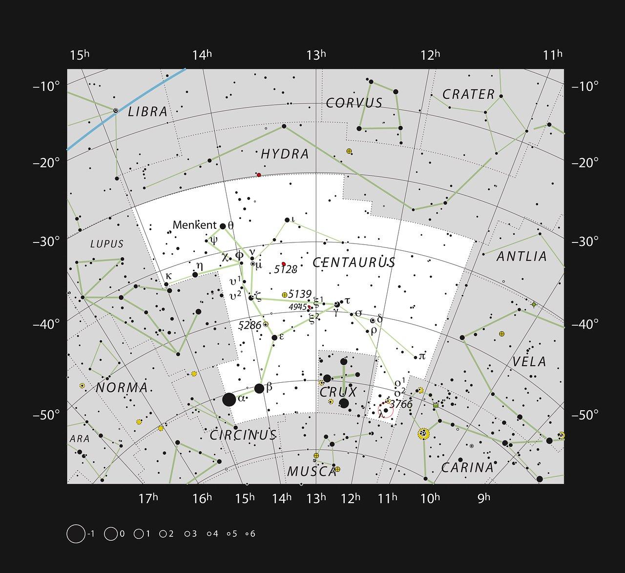 A maternidade estelar IC 2944 na constelação do Centauro