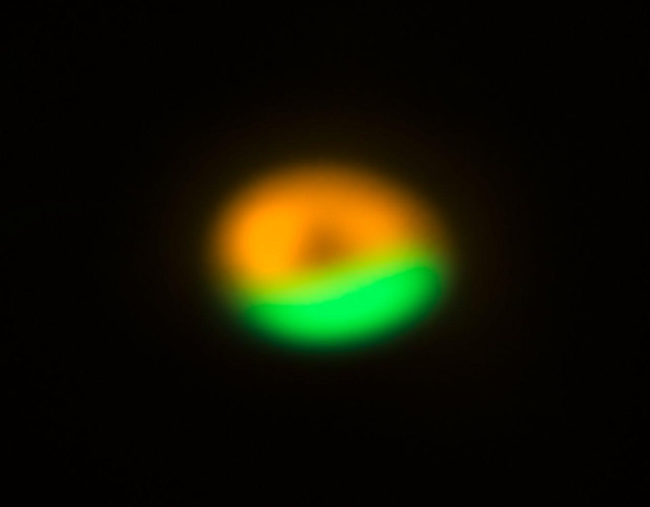 ALMA og VLT billede af kometfabrikken omkring Oph-IRS 48