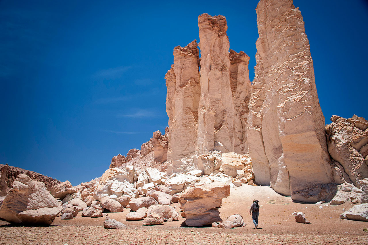 Rock formation in the Atacama Desert
