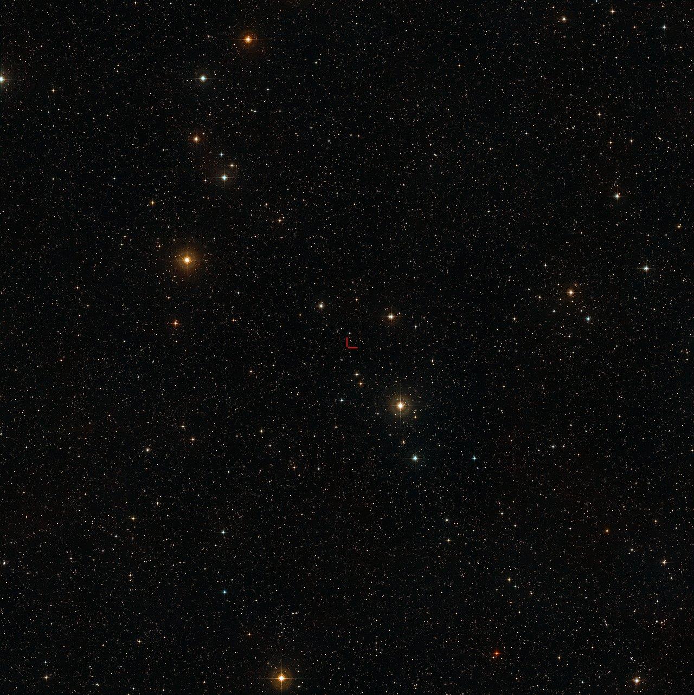 El cielo que rodea al cuásar HE 2243-6031