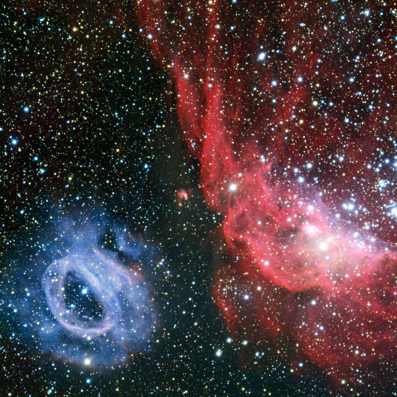 Zwei grundlegend verschiedene Gaswolken in der Großen Magellanischen Wolke