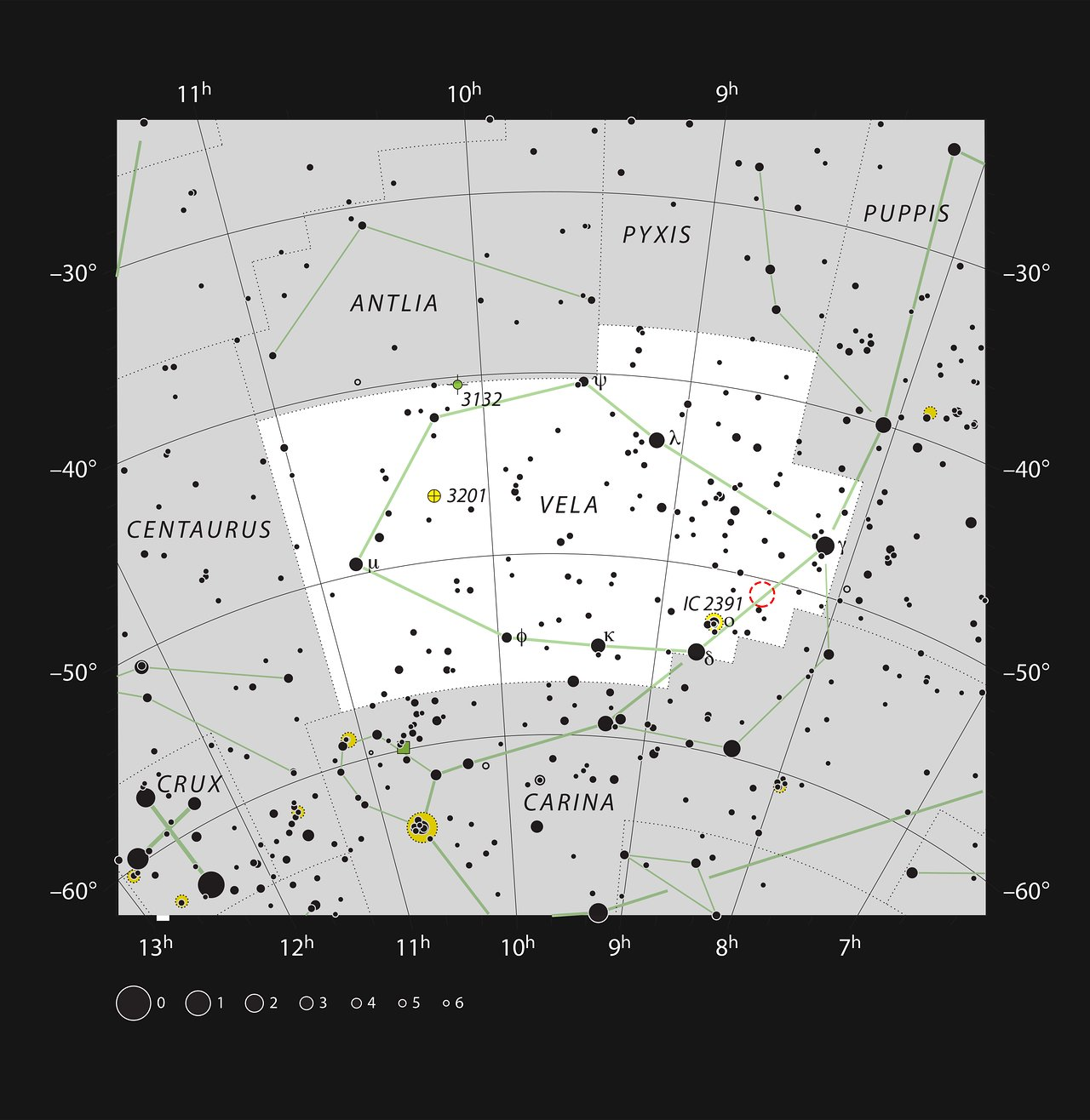 The Herbig-Haro object HH 46/47 in the constellation of Vela