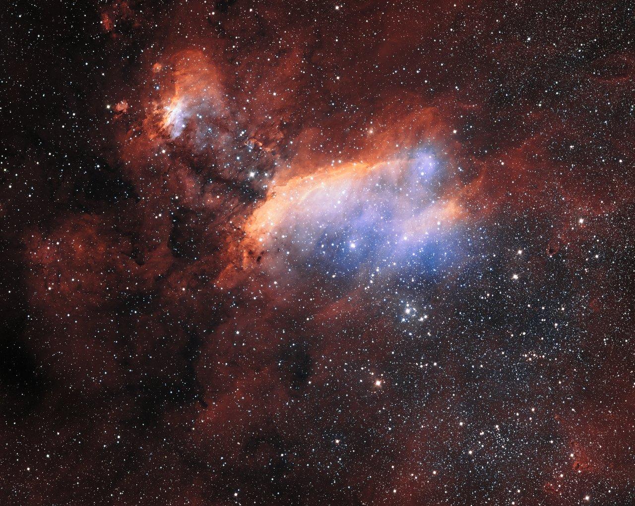 Der Garnelennebel aufgenommen vom VST der ESO (Übersichtsaufnahme)