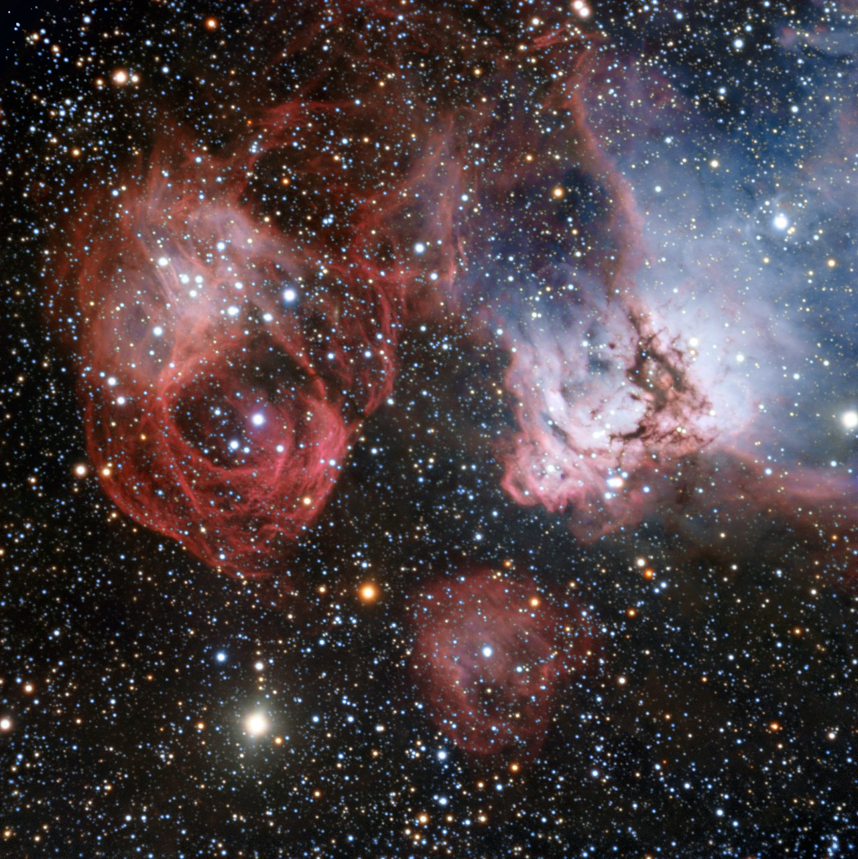Het stervormingsgebied NGC 2035, vastgelegd met ESO's Very Large Telescope