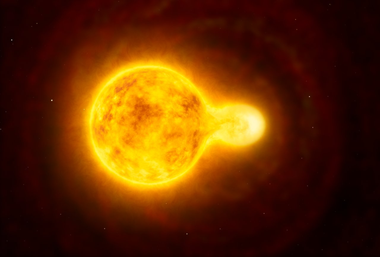 Artist's impression of the yellow hypergiant star HR 5171