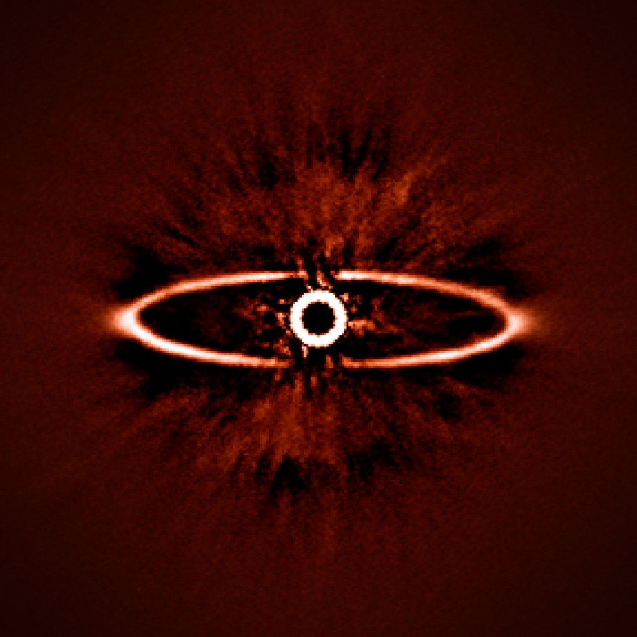 Une image du disque situé autour de l'étoile HR 4796A réalisée par SPHERE