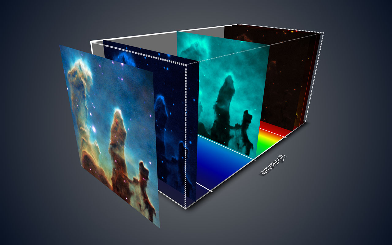 Visión en tres dimensiones de los Pilares de la Creación con datos de MUSE
