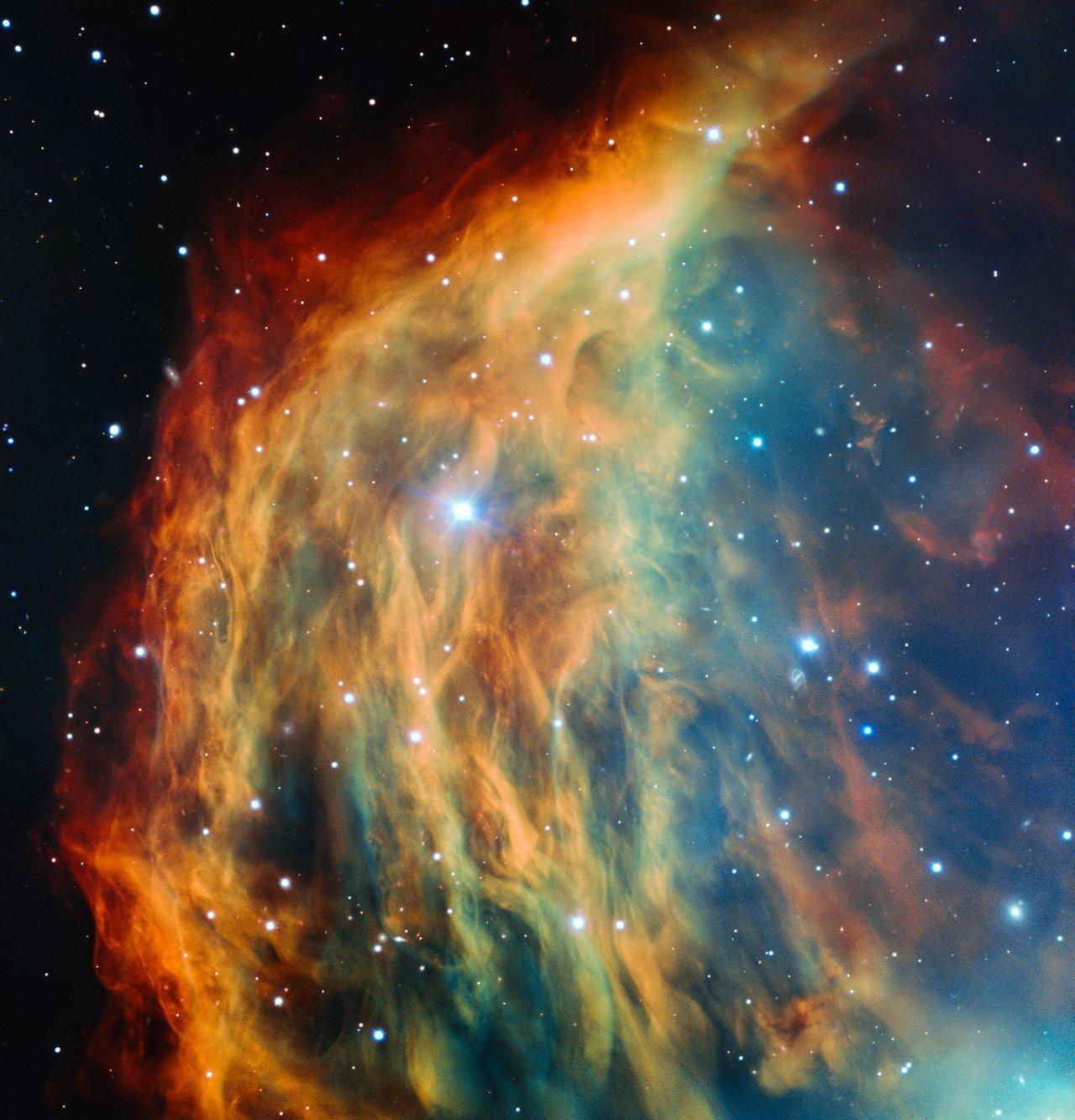 O Very Large Telescope do ESO obtém imagem da Nebulosa da Medusa