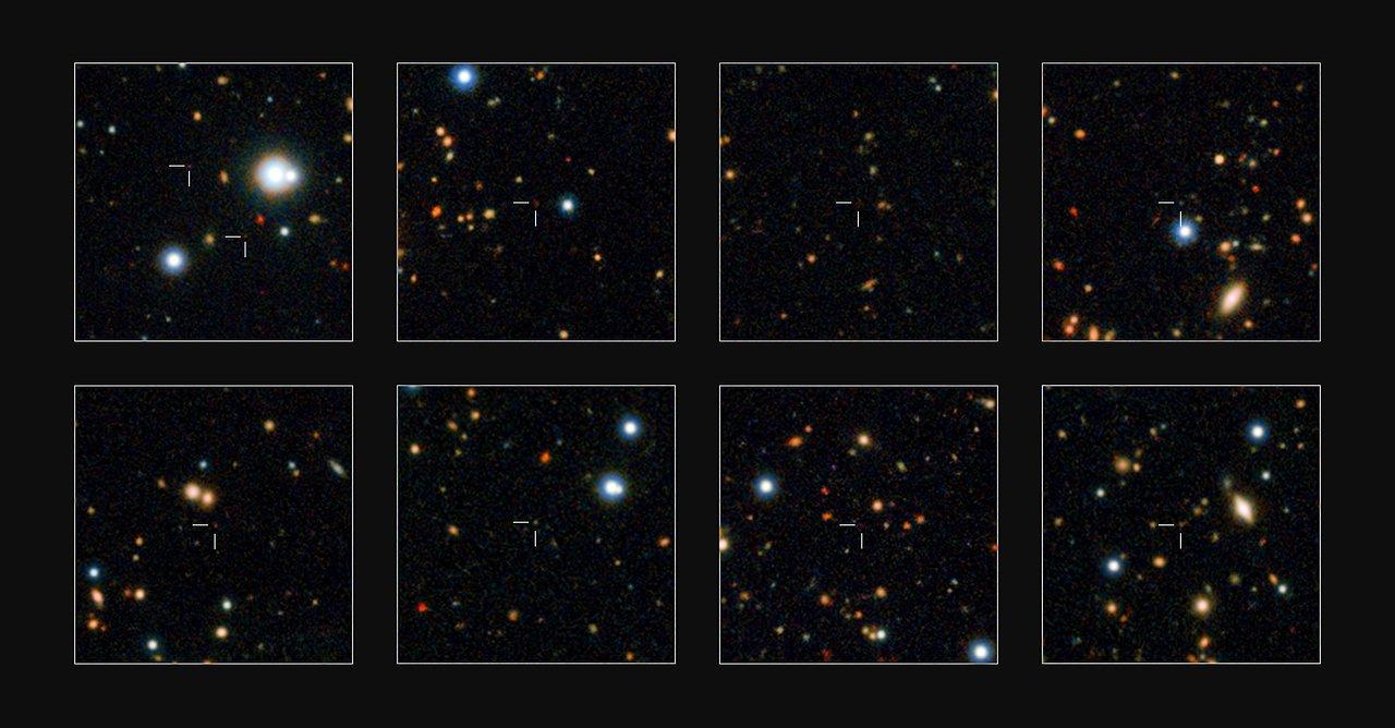 Des galaxies massives découvertes dans l'Univers jeune