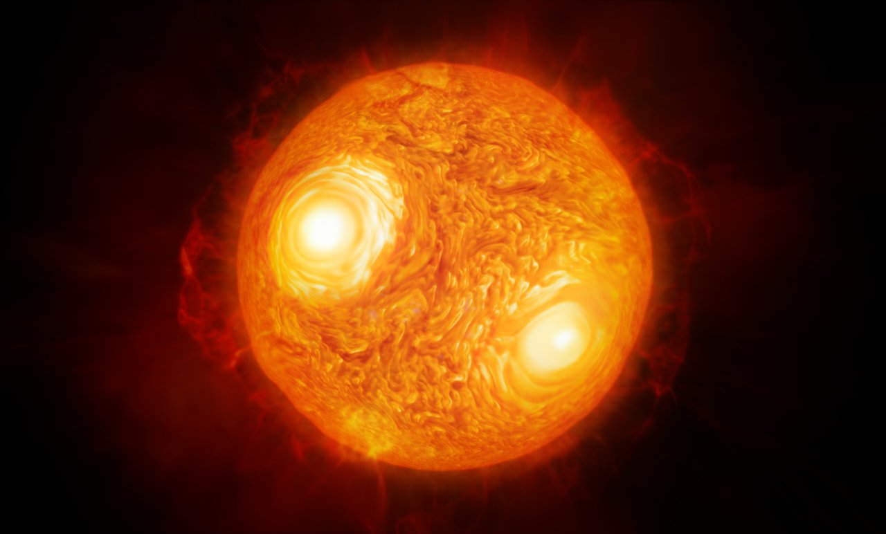 Artist S Impression Of The Red Supergiant Star Antares Eso