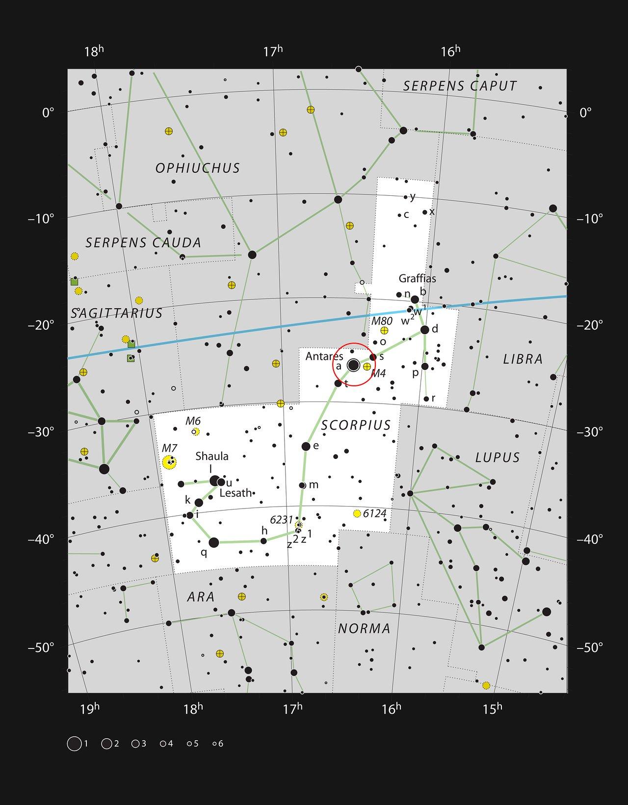 Der Helle Rote Stern Antares Im Sternbild Skorpion Eso
