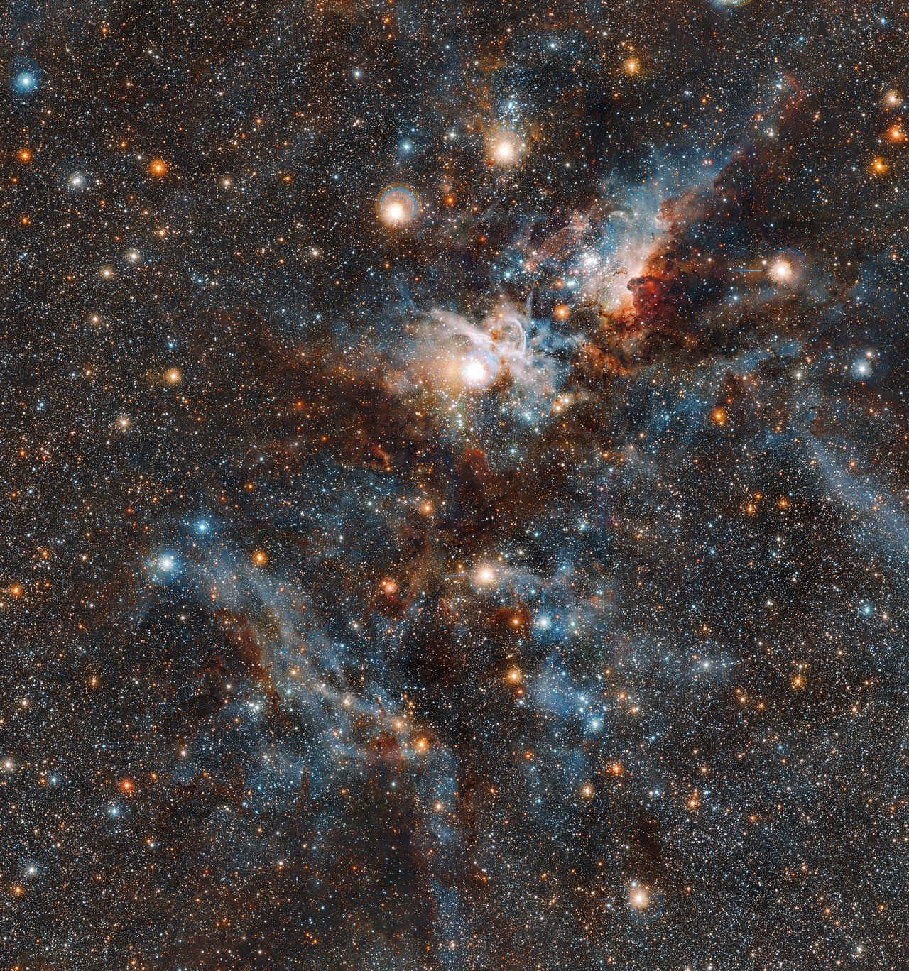 The Carina Nebula in infrared light