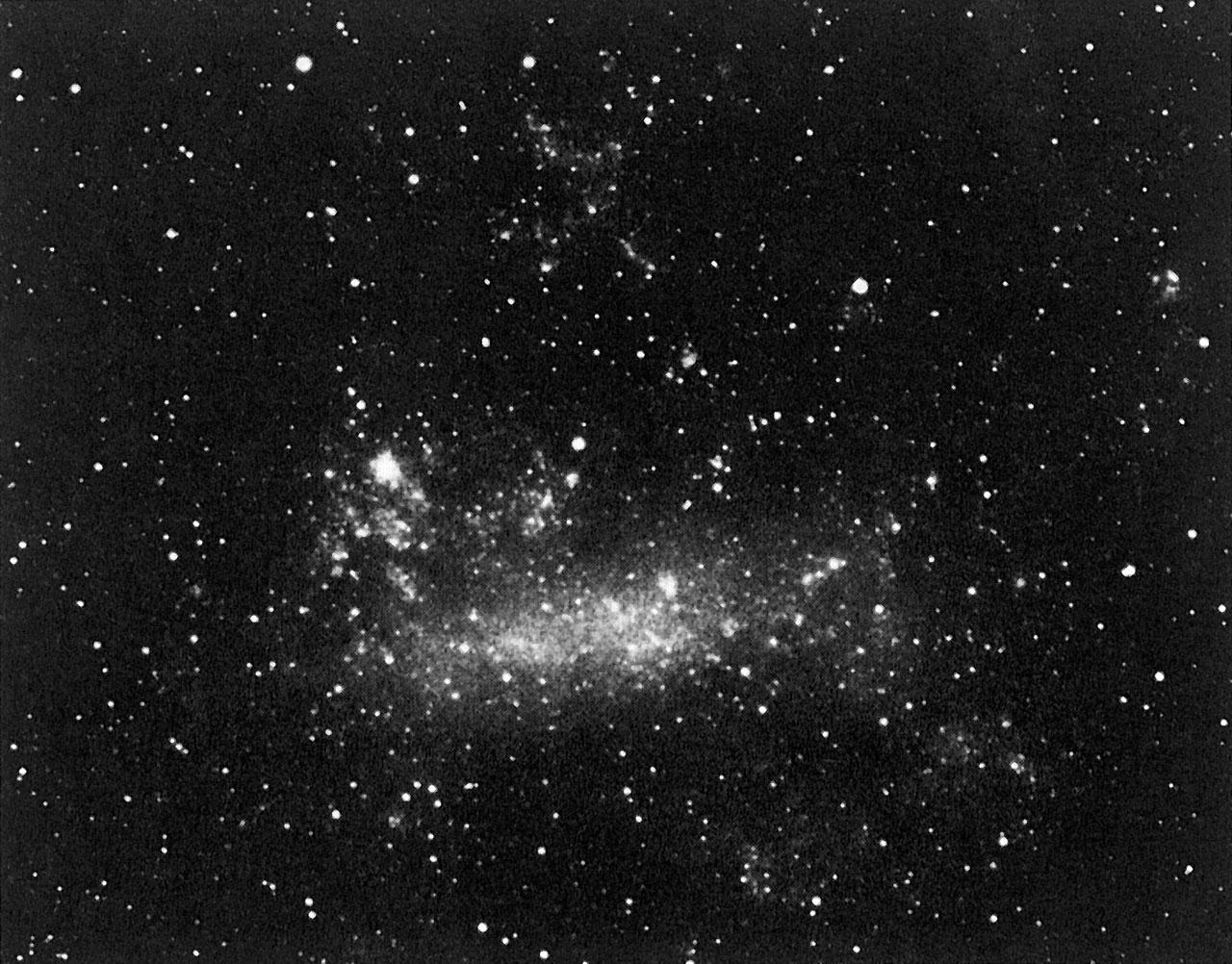 Last colour photo before the supernova explosion in LMC