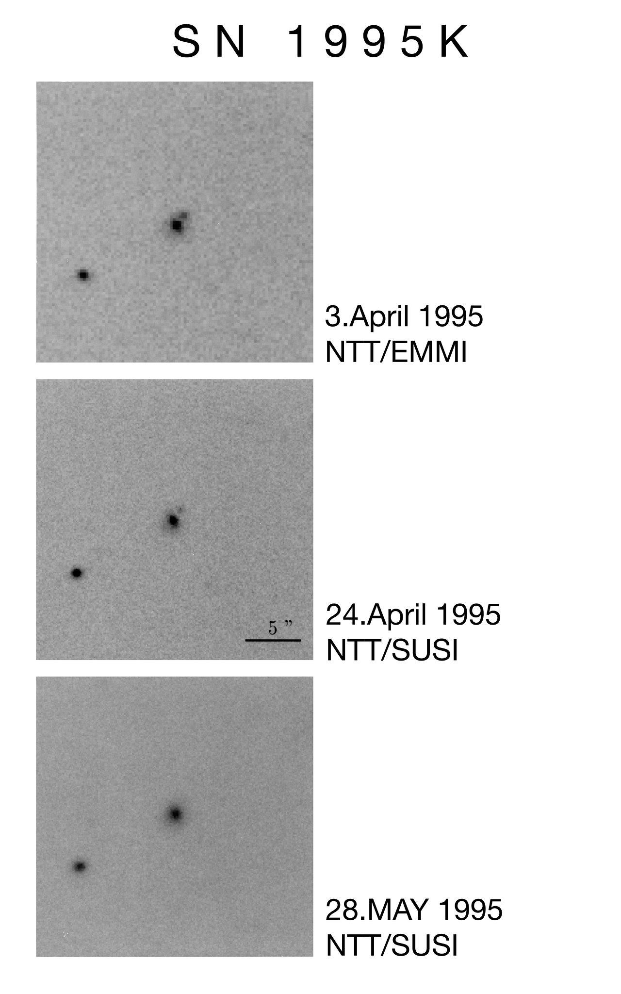 NTT Images of the Supernova 1995K