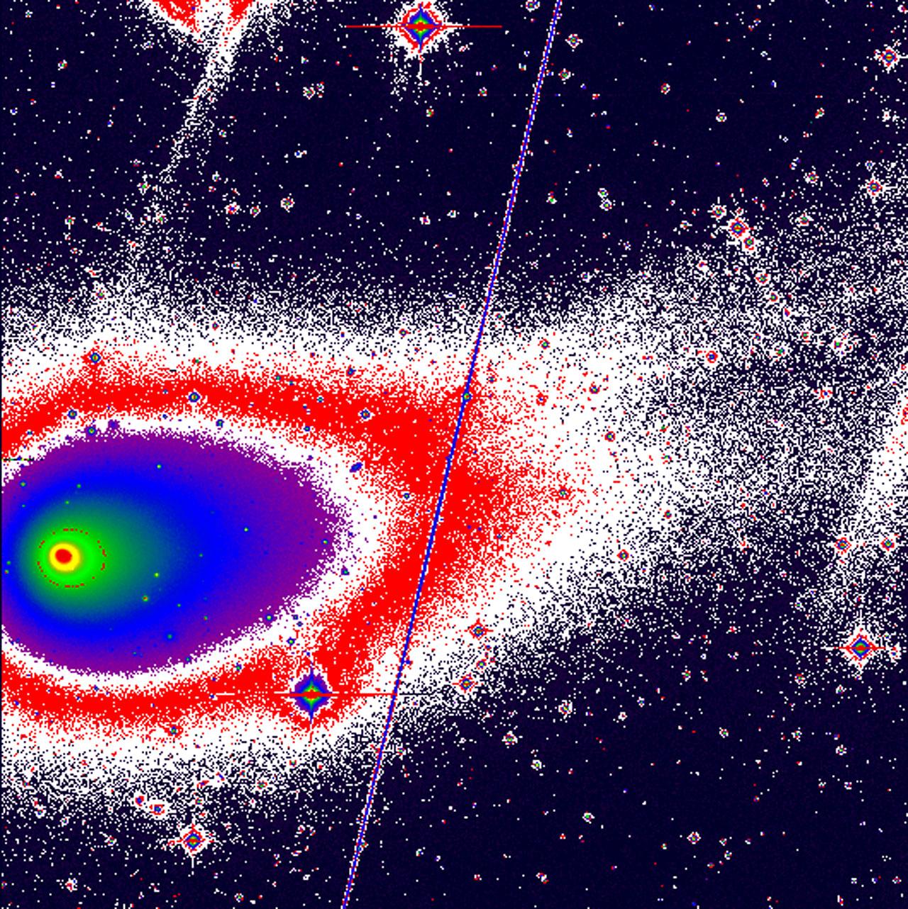 Comet Hyakutake Develops Two Tails
