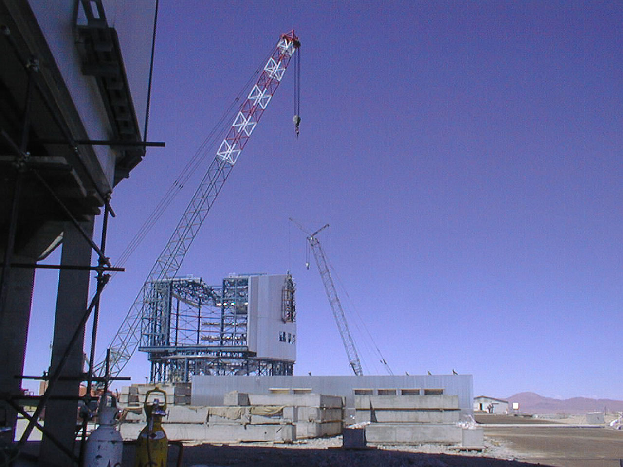 Construction work on the 4th unit telescope enclosure
