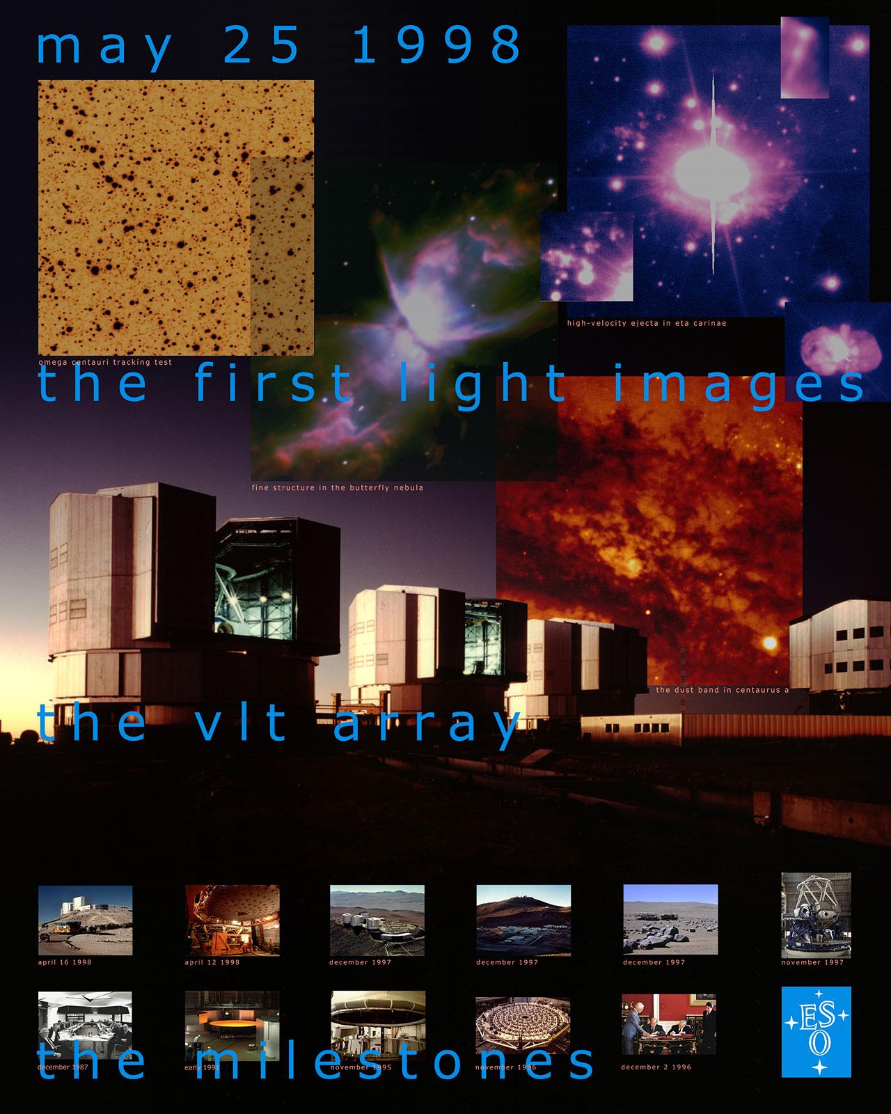 VLT UT1 First Light Poster