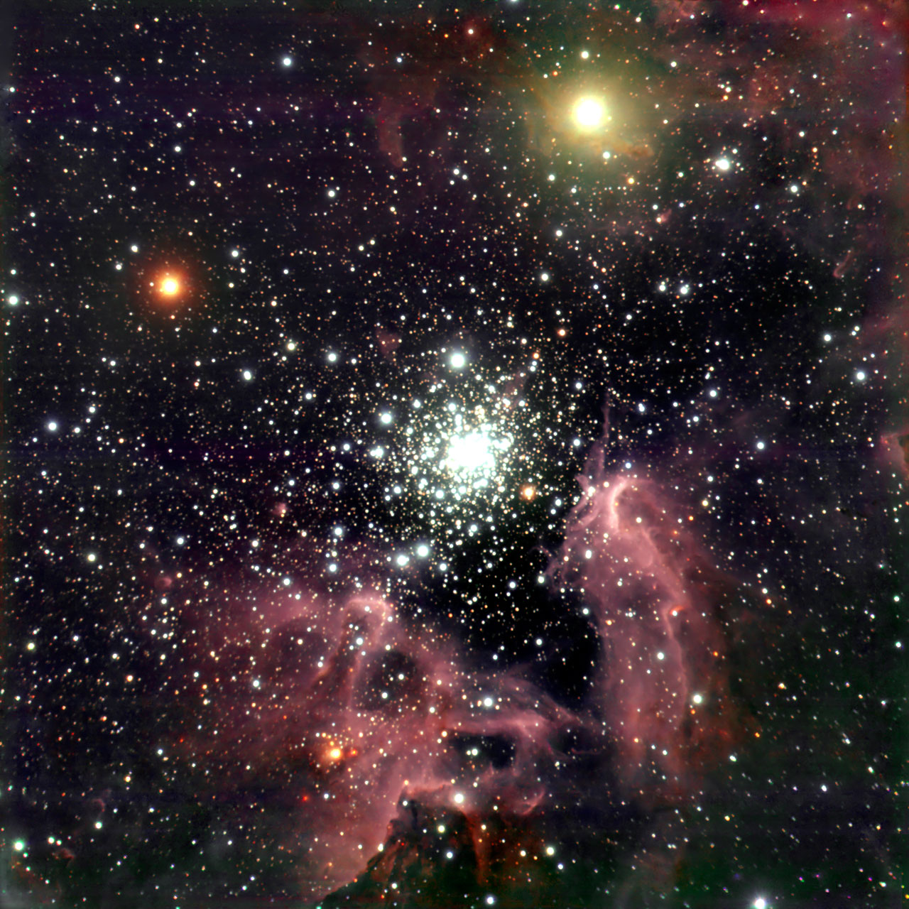 Mounted image 027: The Galactic starburst region NGC 3603