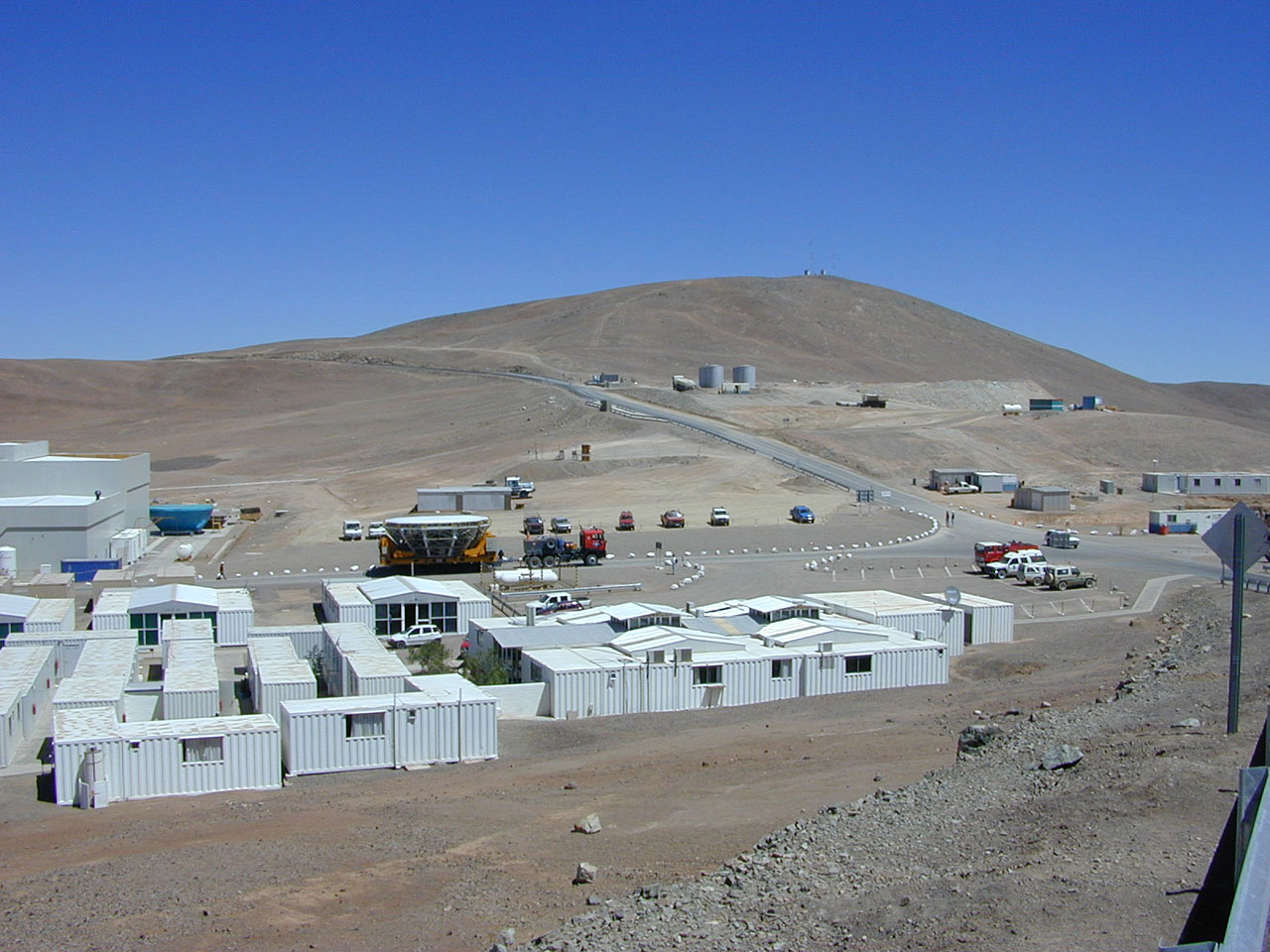 Transport Passing Through the Base Camp