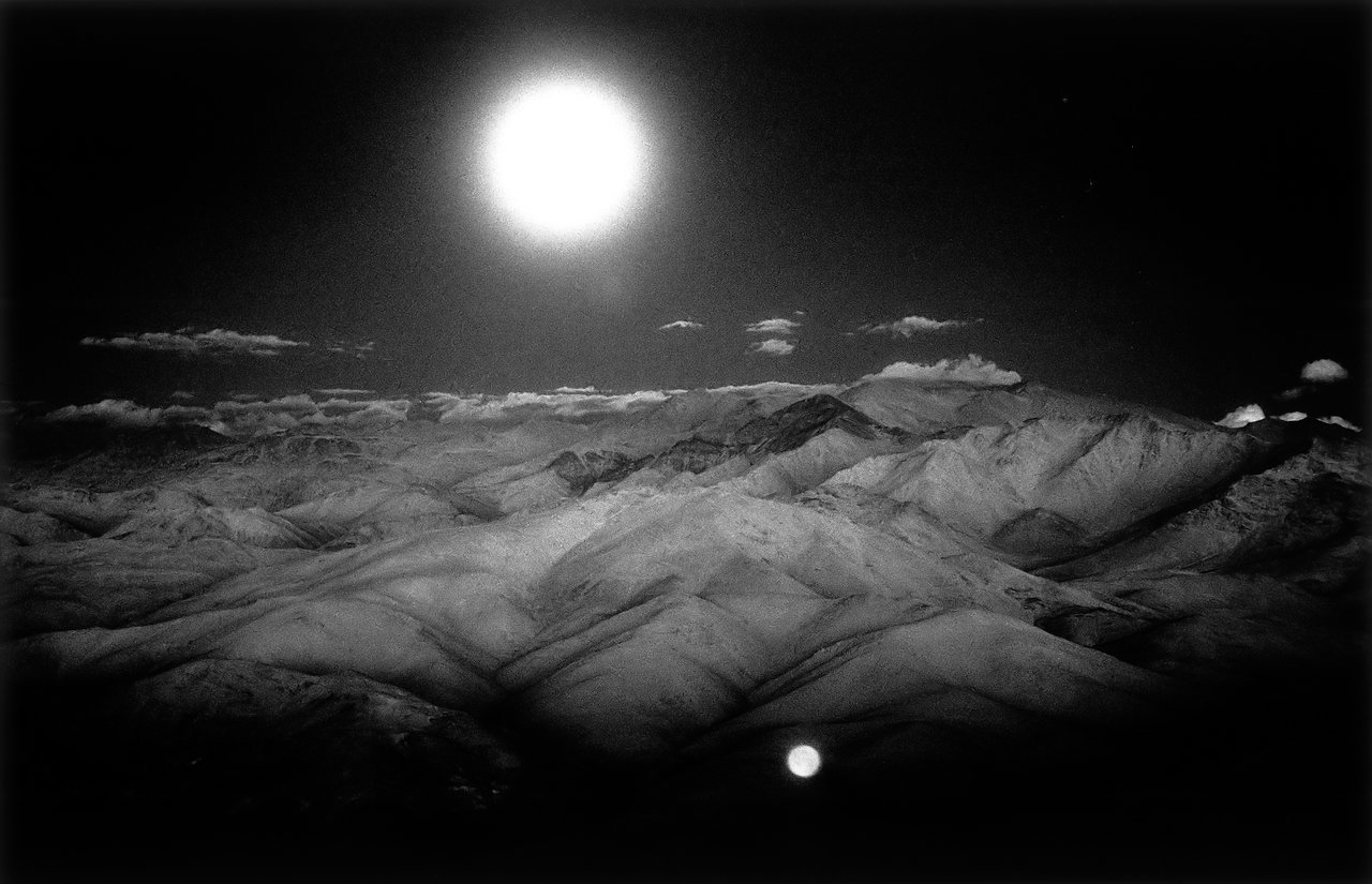 Moon over the Andes