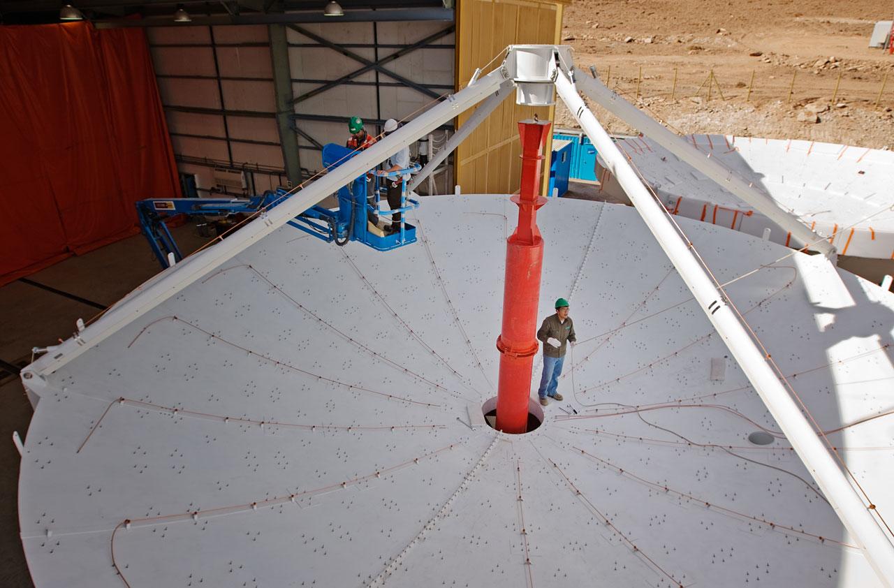 A European ALMA antenna takes shape