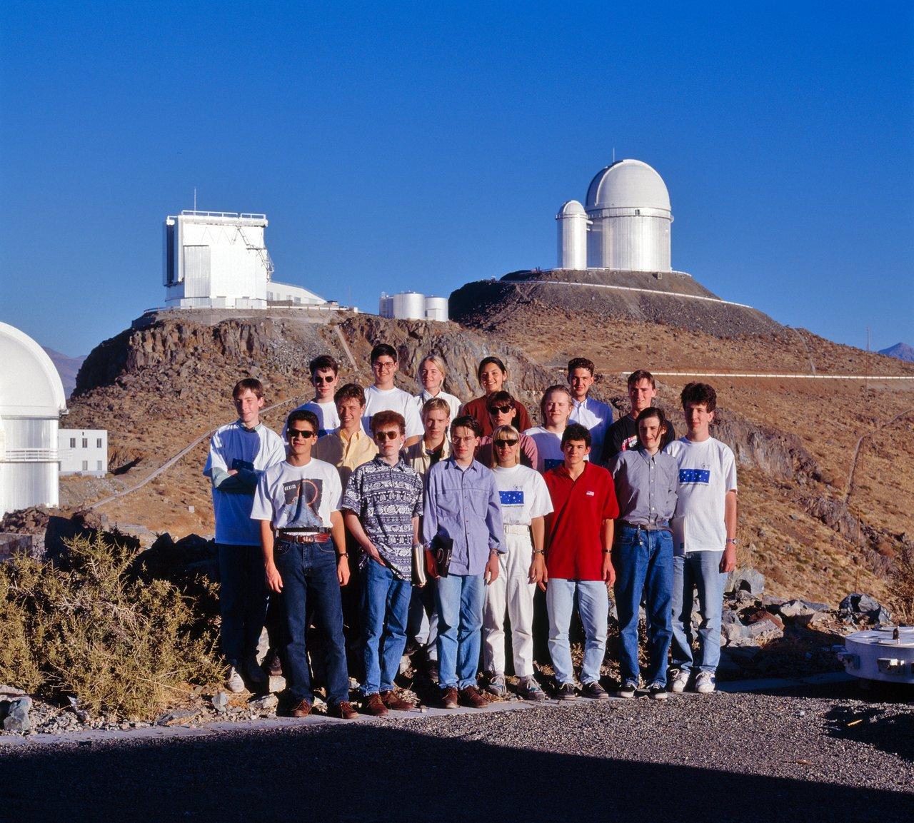 Young astronomers at La Silla