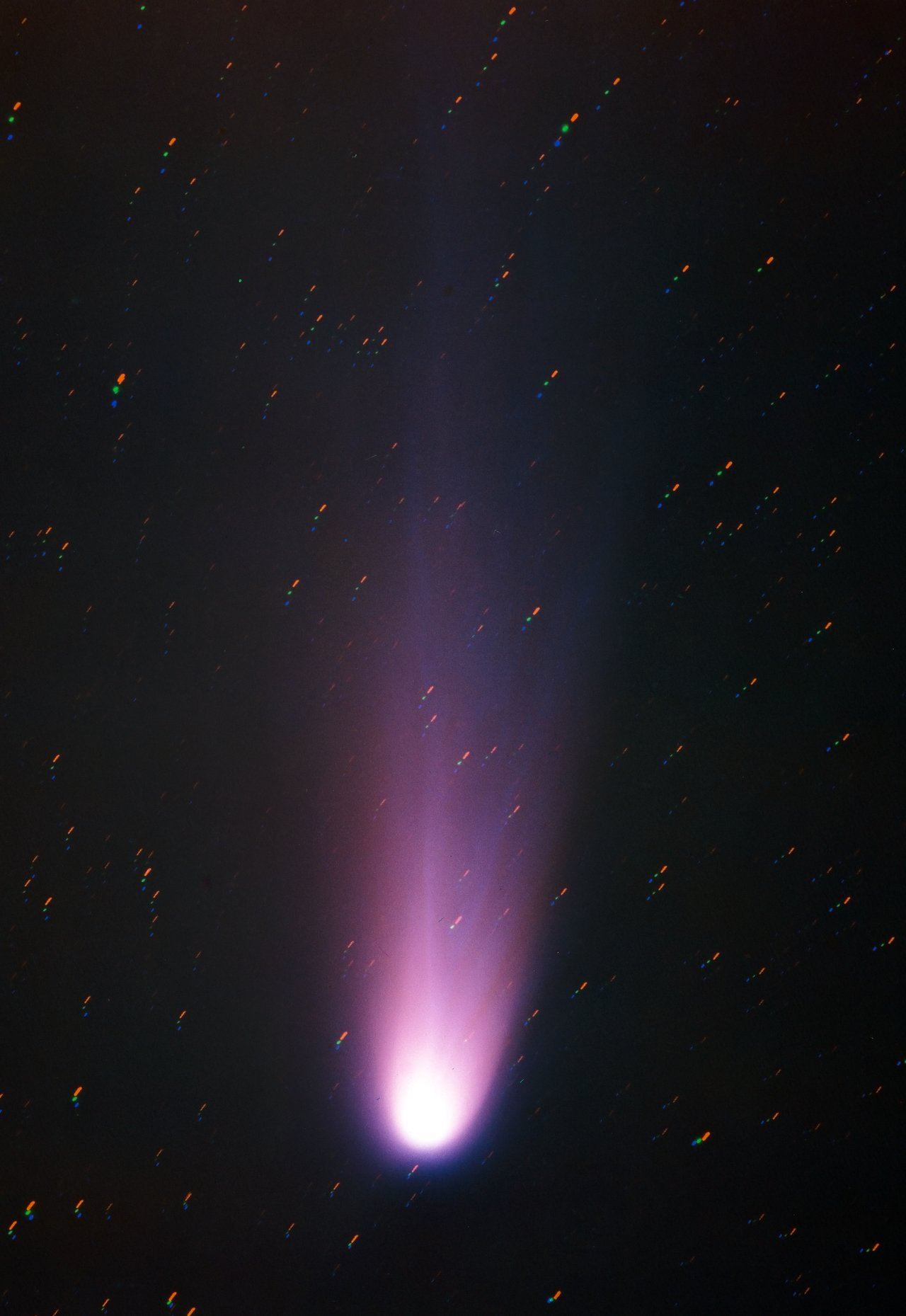 Comet Halley from La Silla in 1986