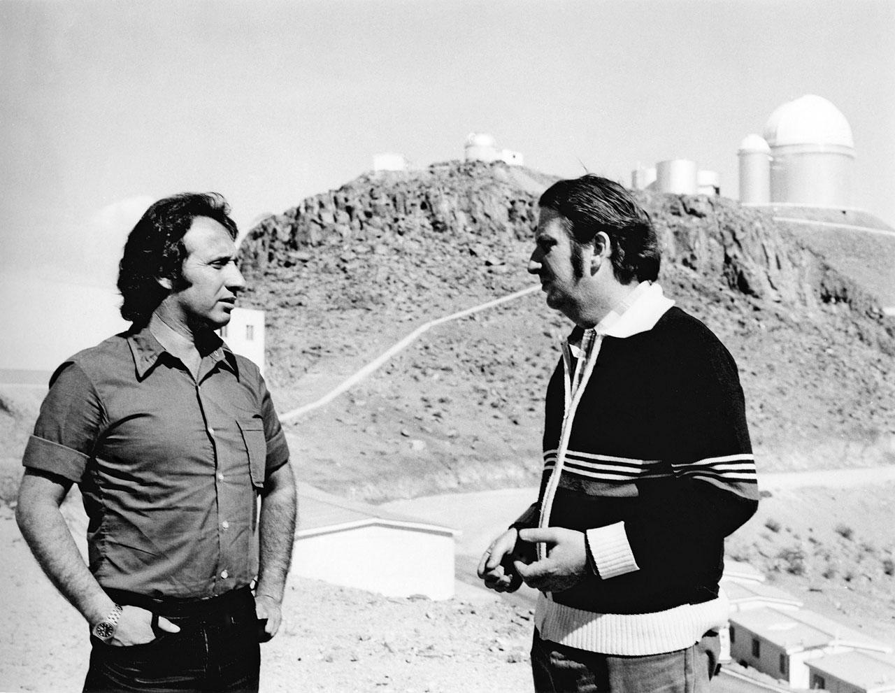 Pizarro and Schuster at La Silla