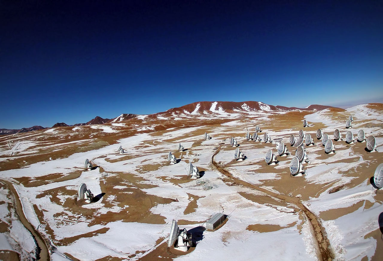 Aerial view of ALMA
