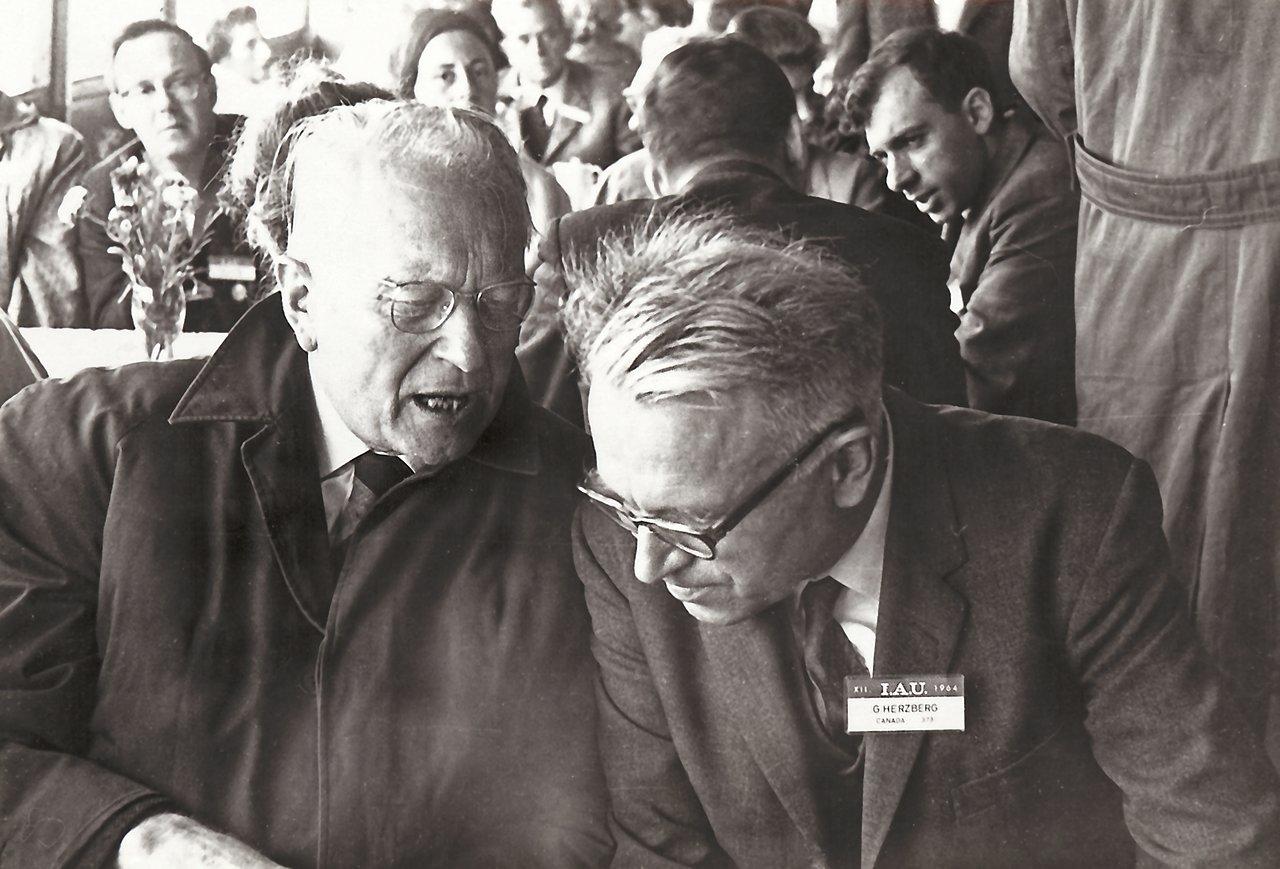 Otto Heckmann during an IAU meeting