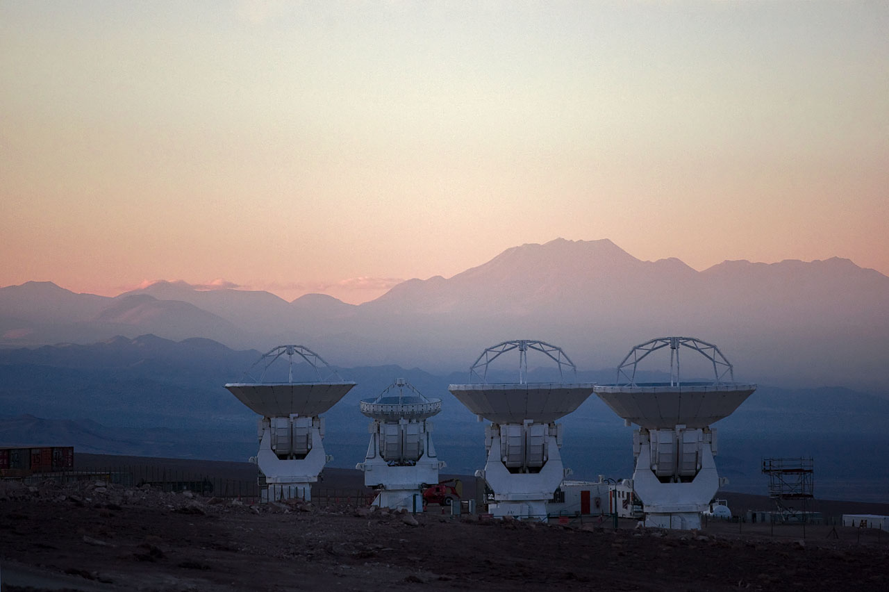 ALMA antennas at OSF*