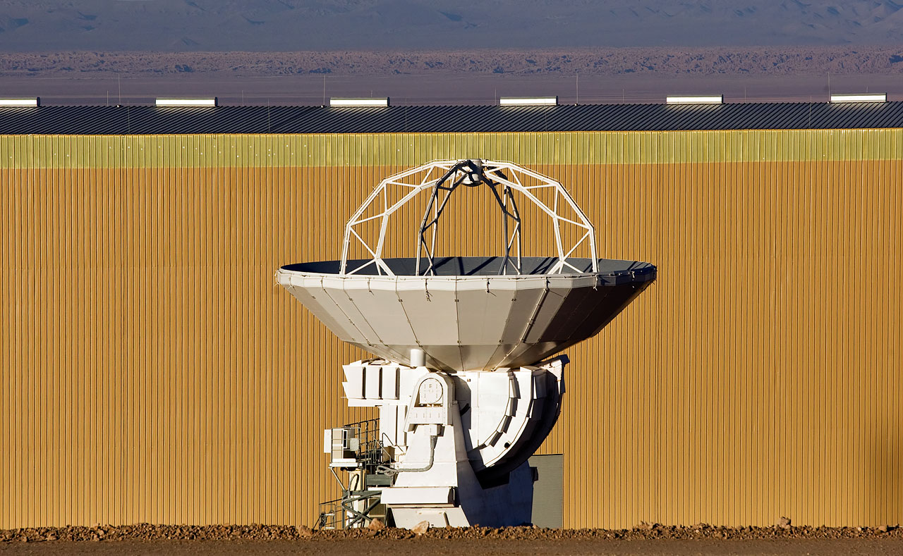 ALMA antenna at OSF