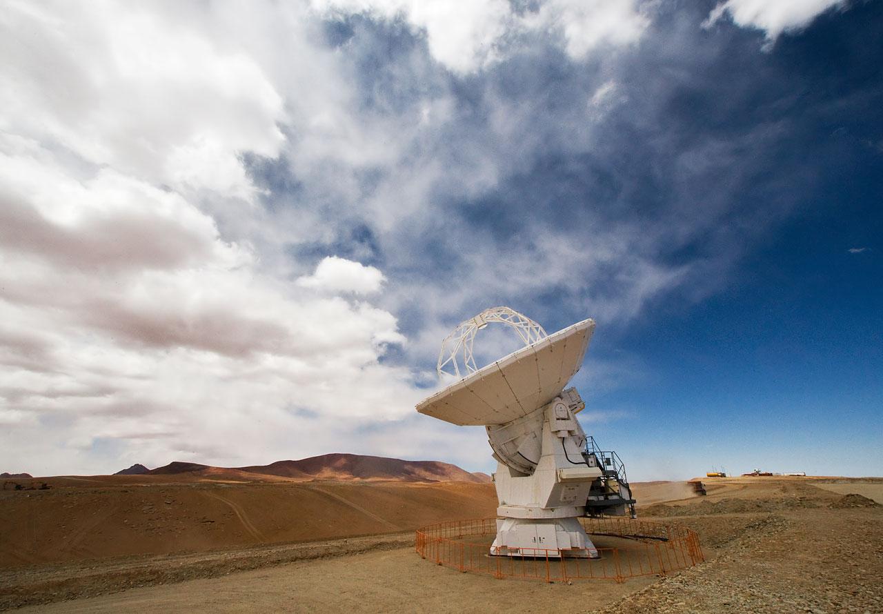 An ALMA antenna on Chajnantor*