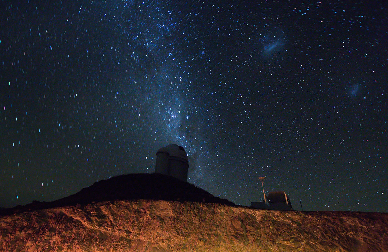 The ESO 3.6-metre telescope at La Silla at night