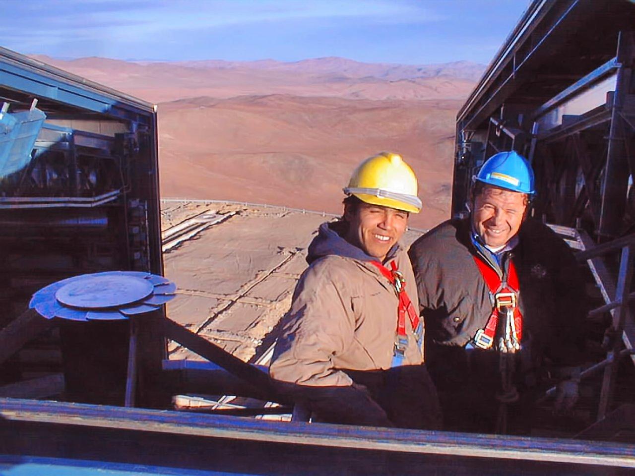 High up inside a VLT Unit Telescope