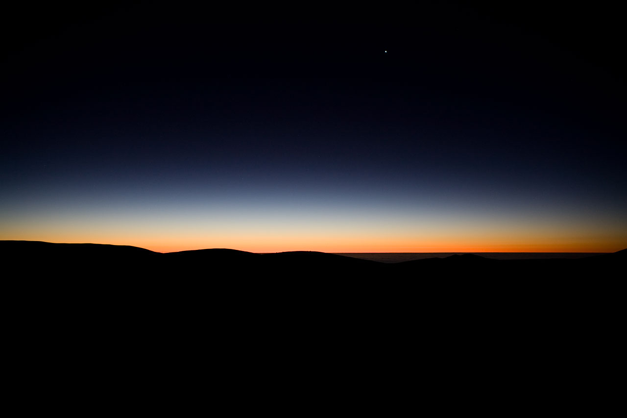 Before sunrise at the VLT