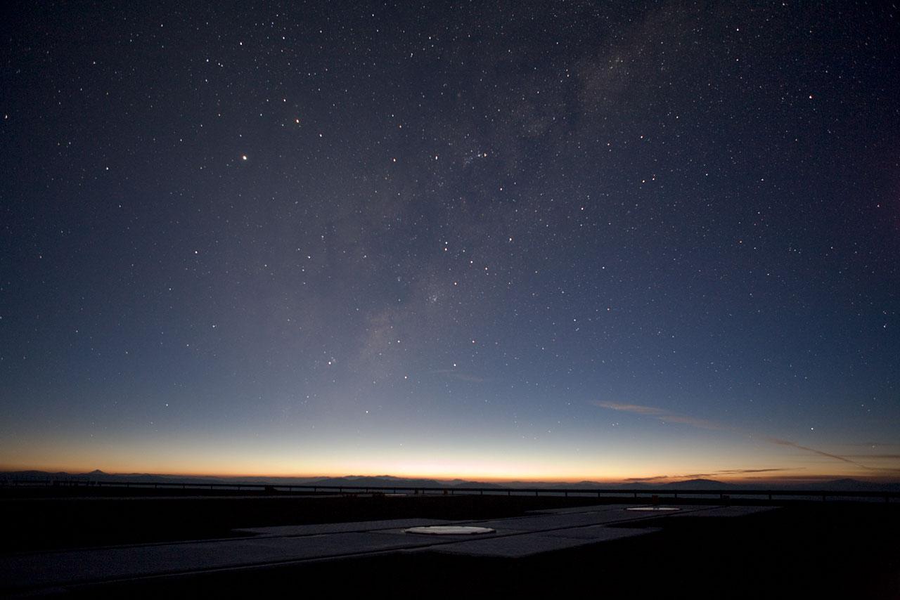 Milky Way Above the VLT Platform