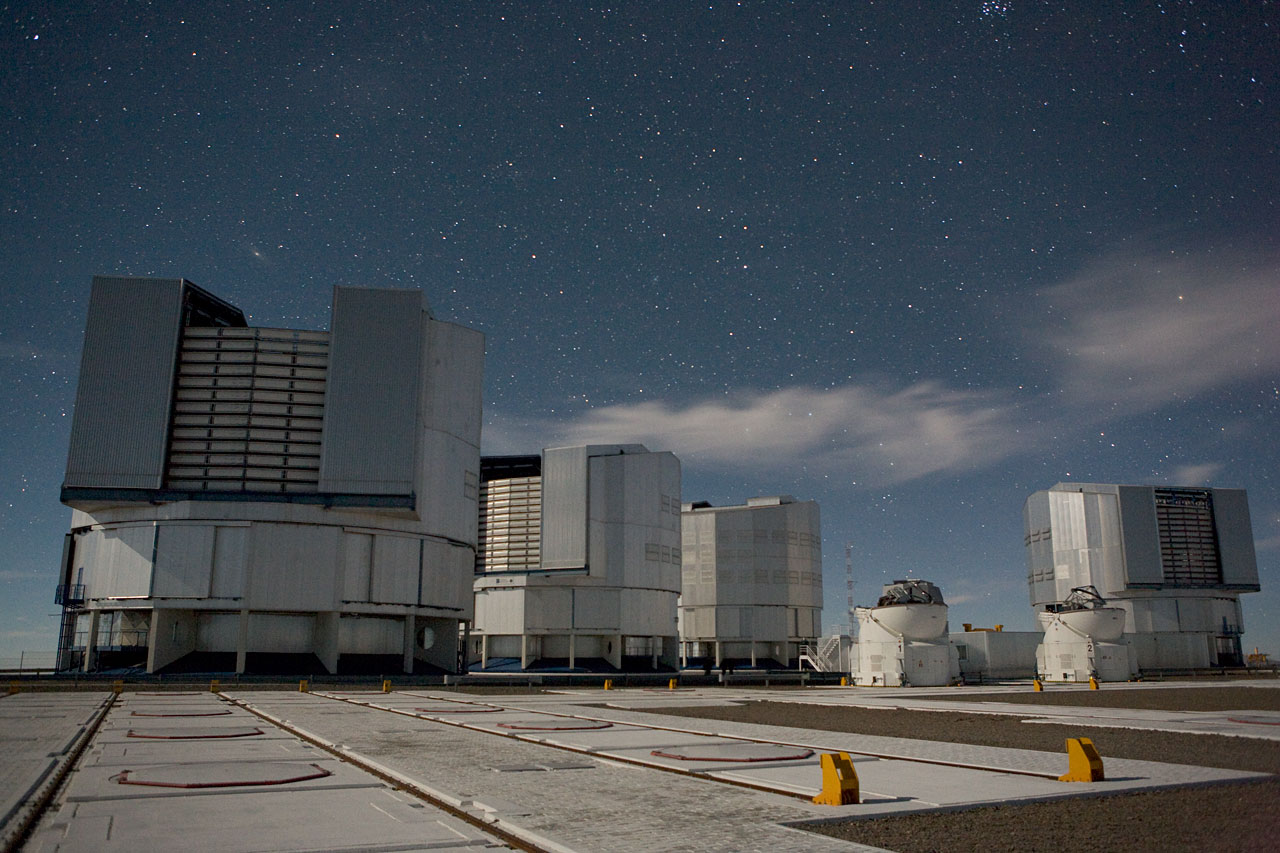 VLT Unit Telescopes Under a Starry Sky