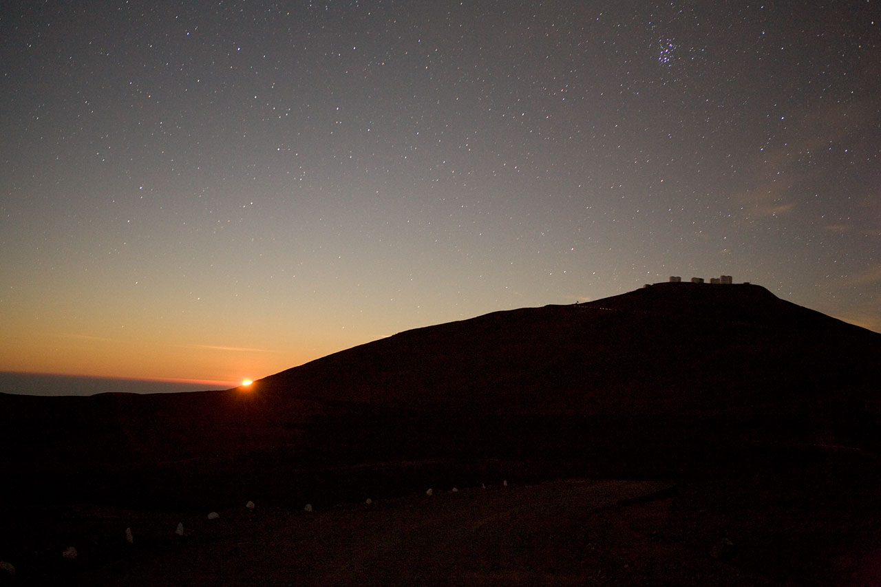 Moon Setting over Paranal