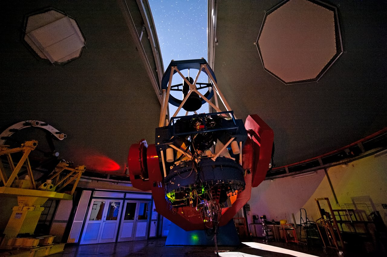 MPG/ESO 2.2-metre telescope with open dome