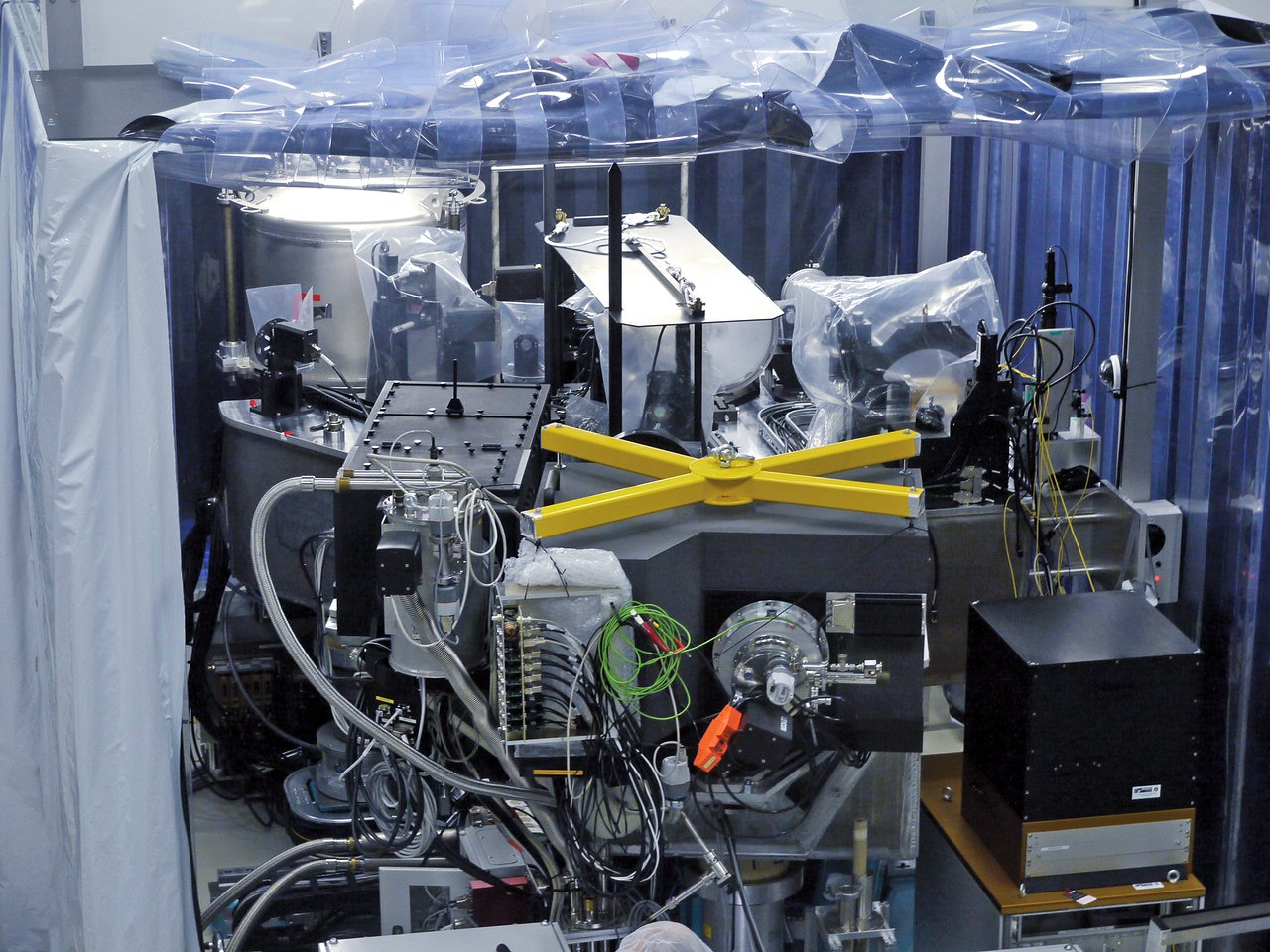 SPHERE instrument in assembly laboratory