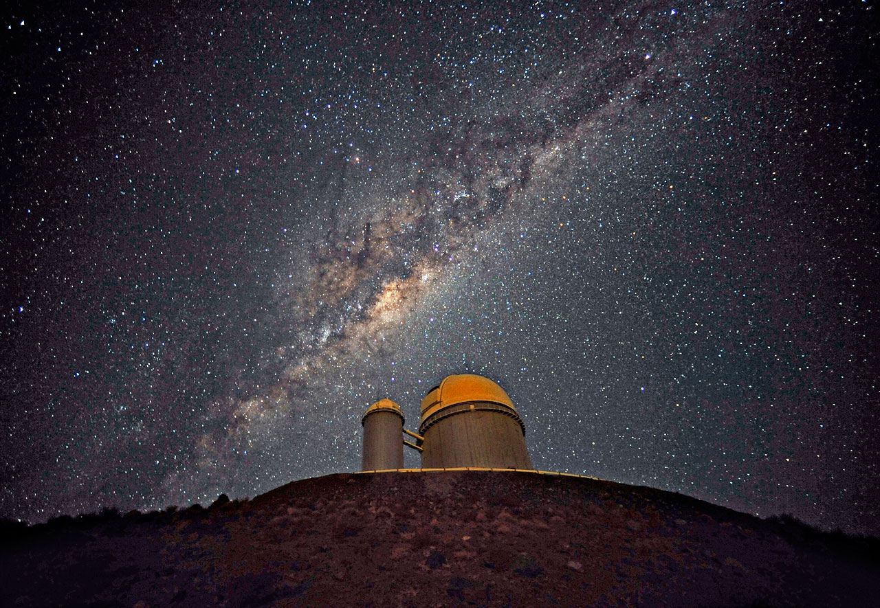 The Galactic Centre above the ESO 3.6-metre telescope