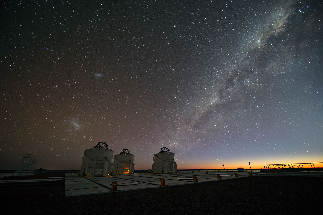 Night-time in Paranal