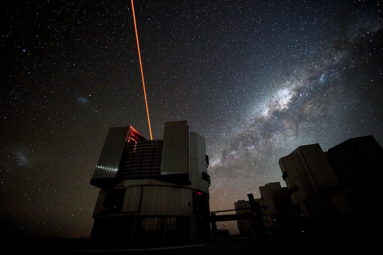 Galactic backdrop