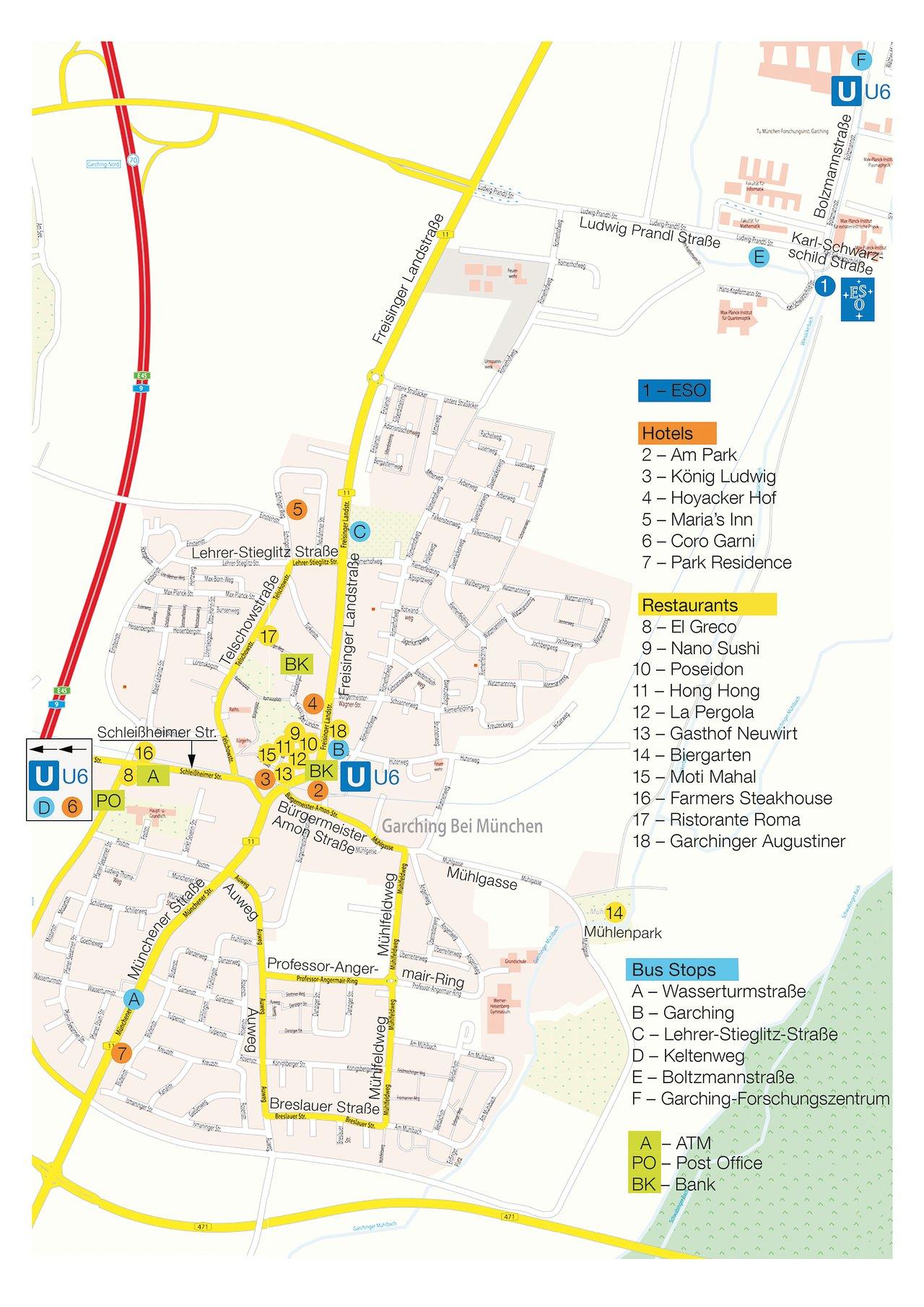 Map of Garching | ESO Deutschland