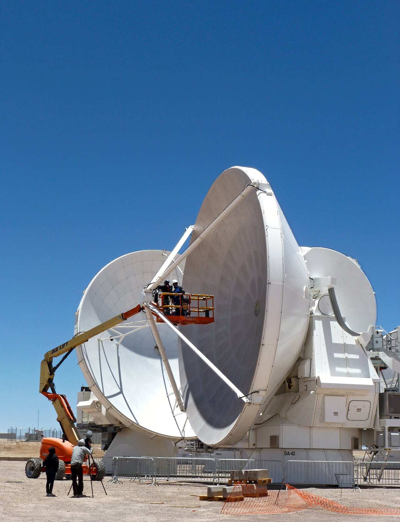 Two ALMA antennas